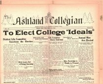 Image of 10-1919330324 - The Ashland Collegian March 24, 1933 Volume 11 Number 18