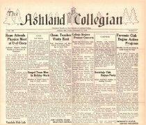 Image of 10-1919331215 - The Ashland Collegian December 15, 1933 Volume 12 Number 9