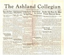 Image of 10-1919341005 - The Ashland Collegian October 5, 1934 Volume 13 Number 3