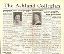 Image of 10-1919341026 - The Ashland Collegian October 26, 1934 Volume 13 Number 5