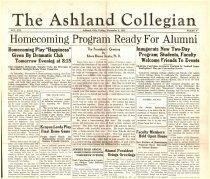Image of 10-1919341102 - The Ashland Collegian November 2, 1934 Volume 13 Number 6