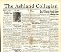 Image of 10-1919341109 - The Ashland Collegian November 9, 1934 Volume 13 Number 7