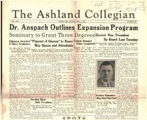 Image of 10-1919350502 - The Ashland Collegian May 2, 1935 Volume 13 Number 22