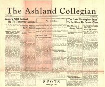 Image of 10-1919350516 - The Ashland Collegian May 16, 1935 Volume 13 Number 24