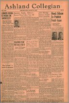Image of 10-1919400125 - The Ashland Collegian January 25, 1940 [sic January 24, 1940] Volume 18 Number 10