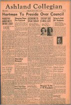 Image of 10-1919400418 - The Ashland Collegian April 18, 1940 Volume 18 Number 16