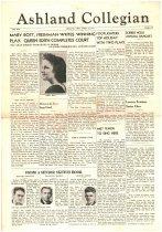 Image of 10-1919410425 - Ashland Collegian April 25, 1941 Volume 19 Number 20