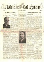 Image of 10-1919411003 - Ashland Collegain October 3, 1941 Volume 20 Number 1