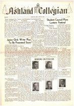 Image of 10-1919420424 - Ashland Collegian April 24, 1942 Volume 20 Number 20