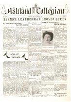 Image of 10-1919431008 - Ashland Collegian October 8, 1943 Volume 22 Number 2