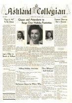 Image of 10-1919441103 - Ashland Collegian November 3, 1944 Volume 23 Number 4