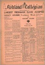 Image of 10-1919460904 - Ashland Collegian September 4, 1946 Volume 25 Number 1