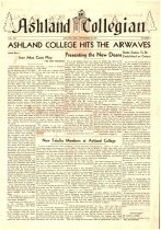 Image of 10-1919460927 - Ashland Collegian September 27, 1946 Volume 25 Number 2