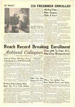 Image of 10-1919470905 - Ashland Collegian September 9, 1947 Volume 26 Number 1