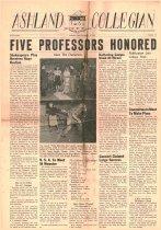 Image of 10-1919491209 - Ashland Collegian December 9, 1949 Volume 28 Number 10