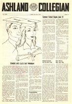 Image of 10-1919550601 - Ashland Collegian June 1, 1955 Volume 33 Number 15