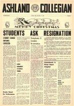 Image of 10-1919561214 - Ashland Collegian December 14, 1956 Volume 35 Number 6