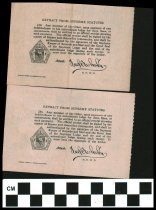 Image of White Cross Lodge receipt 1922, 1923 Johnstown, OH.   reverse side