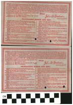 Image of Odd Fellows Official Certificate 1923 Johnstown, OH  reverse side