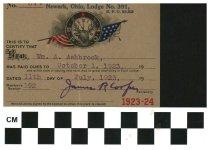 Image of Newark, OH B. P. O. Elks card 1923