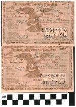 Image of Farternal Order of Eagles receipt 1923