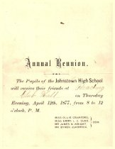 Image of Annual reunion Johnstown High School 1877