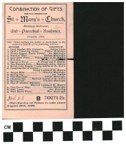 Image of Prize ticket St. Mary's church