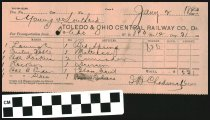 Image of Toledo and Ohio Central Railway freight ticket