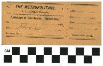 Image of The Metropolitan press pass (2)