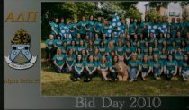 Image of Bid Day 2010 Ashland University, Ashland, OH.  Alpha Delta Pi.