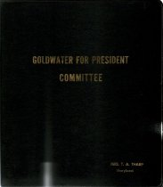 Image of Ashbrook Center Archives Manuscript Collection - Notebook of collected items related to the Goldwater for President Committee 1964.