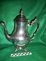 Image of Silver pitcher with lid. - Objects Collection