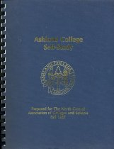 Image of 2017-241987NCA - Ashland College Self-Study Prepared for the North Central Association of College and Schools Fall 1987.