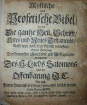 Image of Mystische und profetische Bibel, das ist, Die gantze Heil.