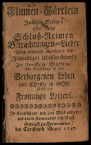 Image of BCA10-19174737713446 - Geistliches Blumen-Gärtlein inniger Seelen, oder, kurtze  Schluss-Reimen