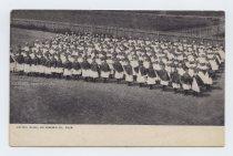 Image of Postcard, Living Flag, Richmond County Fair, ca. 1905