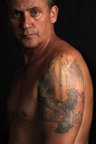 Image of Danny Beyar: World Trade Center tattoo - Print, Photographic