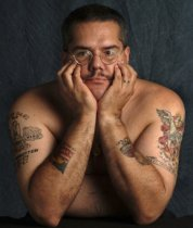 Image of Alvin Gonzalez: portrait with tattoos - Print, Photographic