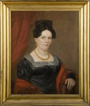 Image of Portrait painting, woman of the Totten family (with frame)