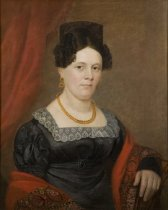 Image of Portrait painting, woman of the Totten family (without frame)