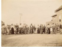 Image of Staten Island Bicycle Club tea, photo by Alice Austen, 1895