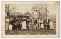 Image of Taken on Townsend Avenue Thanksgiving, photo by Alice Austen, 1885
