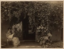 Image of [Alice Austen on porch of Clear Comfort] - Print, Photographic