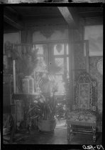 Image of Our old fireplace and plants in bay window - Negative, Film