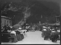 Image of The Grotto of Massabielle at Lourdes, photo by Alice Austen, 1909