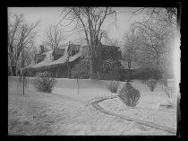 Image of [Clear Comfort in the snow] - Negative, Glass-plate