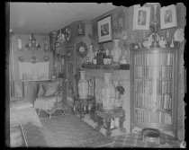 Image of Corner bookcase & mantlepiece, photo by Alice Austen, 1898