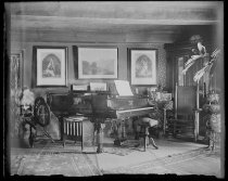 Image of Middle room from hall piano - Negative, Glass-plate
