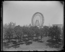 Image of The Ferris Wheel from Chicago University - Negative, Glass-plate