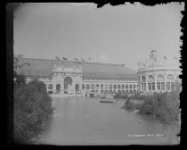 Image of Administration end & lagoon, Manufactures & Lib Arts - Negative, Glass-plate